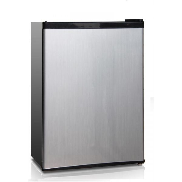 Midea 2.4 CF Compact Refrigerator with Freezer Space, Silver WHS-87LSS1