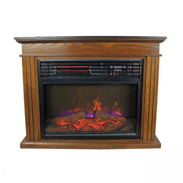Warm Living 3 Element Electric 5100 BTU Wood Fireplace Heater WL-405BR