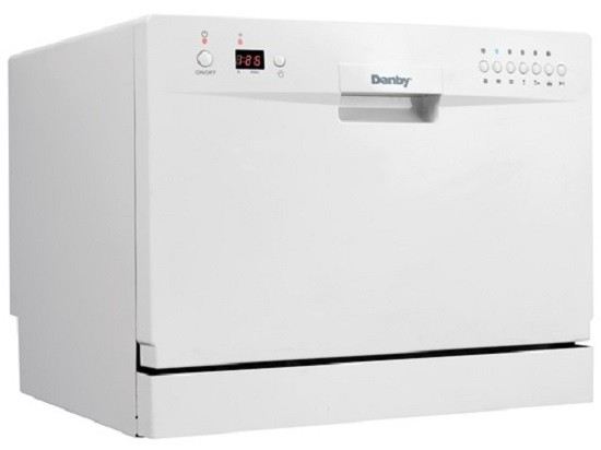 Danby Countertop Portable Dishwasher Energy Star 6 Place Setting ...