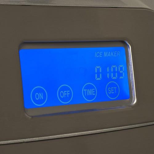 Koldfront Portable Countertop Ice Maker : Koldfront Countertop Portable Ice Maker w LCD Display Stainless Steel ...