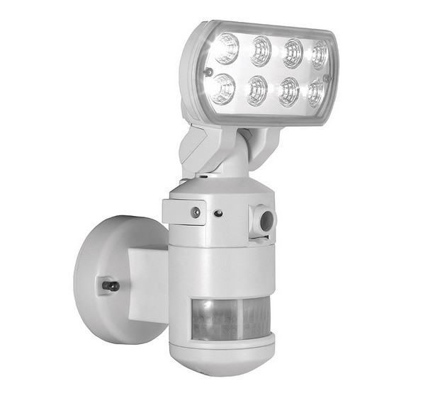 Outdoor Motion Sensor Security Lights Camera: Nightwatcher NW700WH Robotic LED Security Motion Tracking