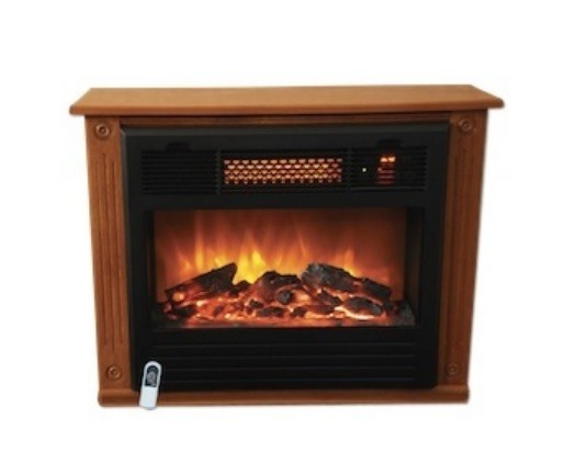 Smart Products Electric Infrared Quartz Fireplace Heater Oak Spp If1500 Mofp Ebay