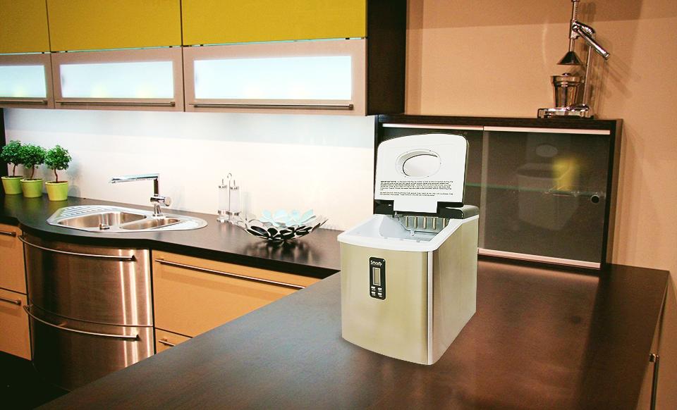 ... Smart+ Portable Countertop Ice Maker Machine Stainless SPP15AIM Refurb
