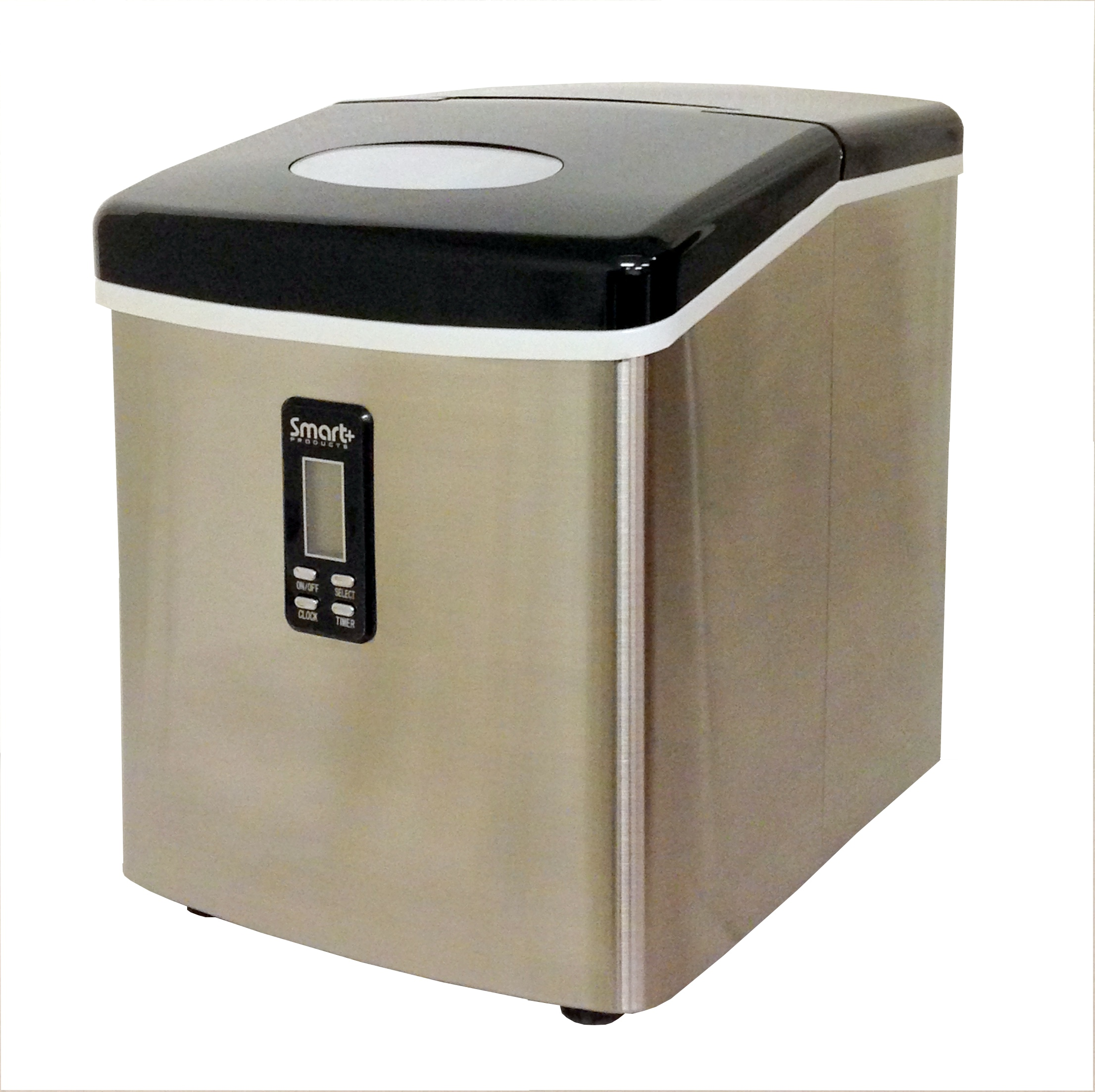 Portable Countertop Ice Maker : ... Smart+ Portable Countertop Ice Maker Machine Stainless Steel SPP15AIM