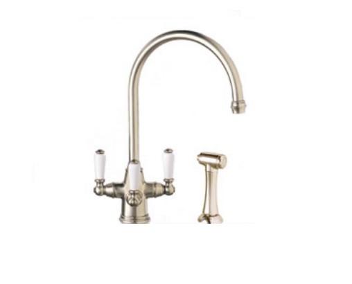 Frank Faucet : Details about Franke Corinthian Triple Handle Triflow Faucet w/ Spray ...